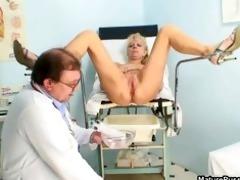lewd older patient toying her pink part0