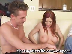 fiery redhead wifey with worthy milk sacks