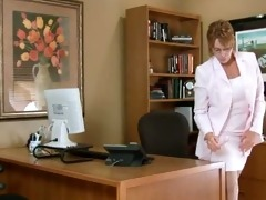 aged office secretary masturbation