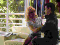 ultra smart golden-haired and her boyfriend