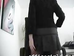 secretary floozy wearing seamless darksome hose