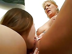 nasty lesbian learns from older lesbo