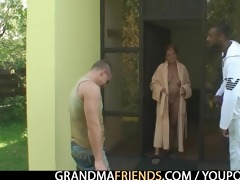 interracial some fuckfest with granny