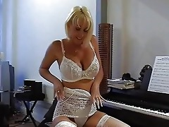 breasty golden-haired d like to fuck in hot lace