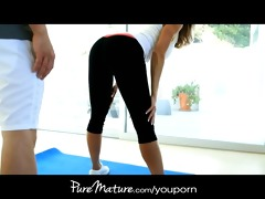 puremature big-titted mother i seduces her yoga