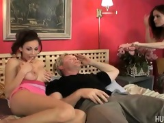 older chick gives shlong engulfing lessons to