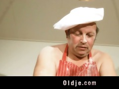 obscene old dude copulates hawt youthful blond in