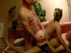 wife bonks two guys, hubby is filming