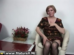 aged lustful woman is touching her hawt part6