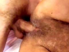lusty granny acquires her shaggy bawdy cleft