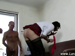 d like to fuck acquires facial in trio