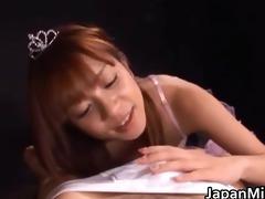 oriental princess honey gives a sexy oral-job