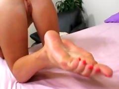 kimberly kole copulates and gives sexy footjob