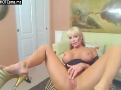 sexy golden-haired aged wench large bumpers sex