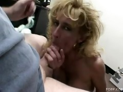 older golden-haired sage gives a blow job