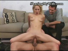 sexy wifey takes jizz shower
