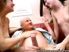 matures dick sucks a fortunate mature as well