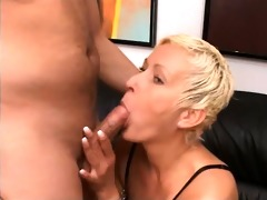 golden-haired mature having gap fisted hard