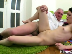 naughty darksome haired playgirl with hot a-hole