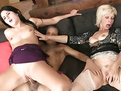 mamma licks daughters muff during the time that