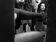 spycam records busty momma changing garments in