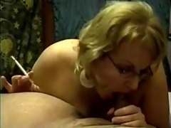 older smoking blow job