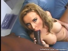 sweet laura cums all over a large black rod