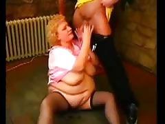 older plump woman...bmw
