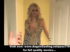 hot blond mother i does irrumation for pizza boy