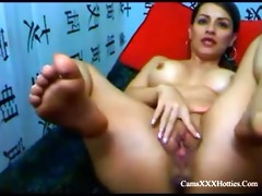 latin d like to fuck playing with 8 dildos on