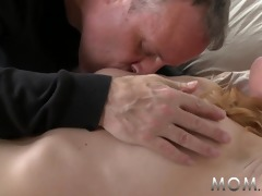 mamma older blond teaches him a thing or