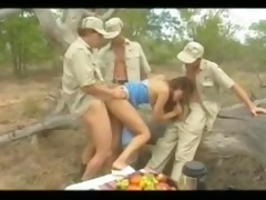 diana - cheating wife group-fucked in jungle