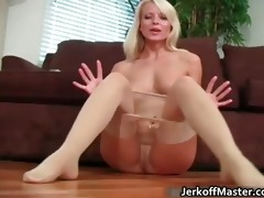 seductive blonde hottie stripping part2