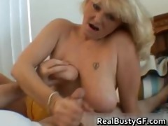 wicked mommy shows her juggs and sucks shlong