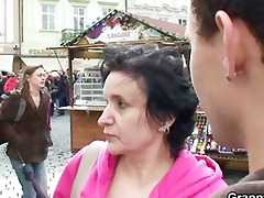 granny tourist jumps on schlong