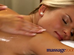 massage rooms breasty older woman oiled by