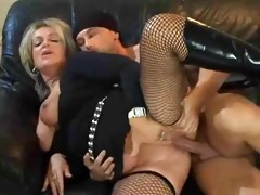 hot blonde euro older banging in boots