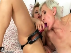 sexually excited lesbiansex betwixt granny and
