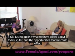 femaleagent. pole dancer learns new moves