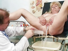 golden-haired grandma perverted love tunnel exam