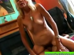 old curly bitch doing a reverse cowgirl