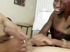 breasty black and her daughter share pecker