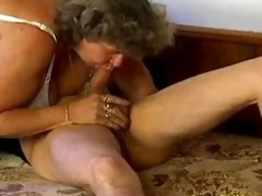 mad old mommy acquires large ramrod blowjob and