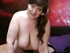 obese aged with dildo