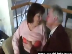 breasty granny ivana spunked right on her taut