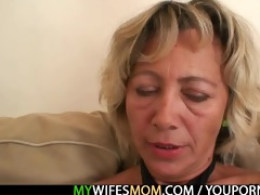 hawt mother in law enjoys dick riding