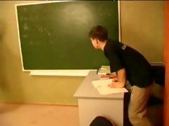 russian older teacher and juvenile fellow russian