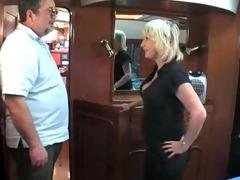 aged british blond fucking om a boat