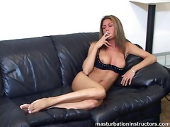 smoking mother i flashes bra buddies as she is