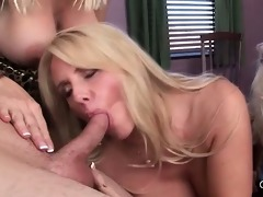 golden-haired chesty cougars group-fucked doggy